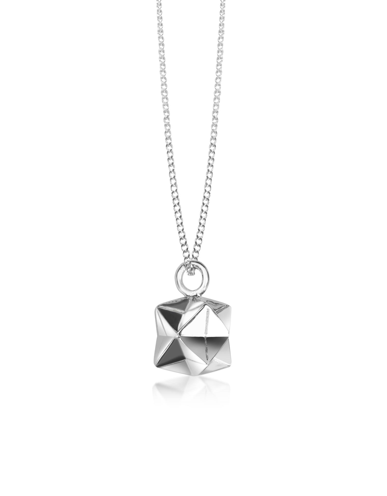 Origami   серебристый Magic Ball - Ожерелье из Серебра 925 пробы с Подвеской   Clouty