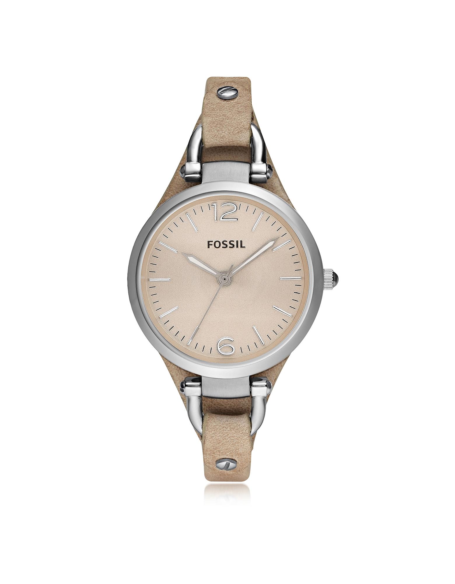 Fossil | серебристый Georgia Riley - Женские Часы из Нержавеющей Стали | Clouty