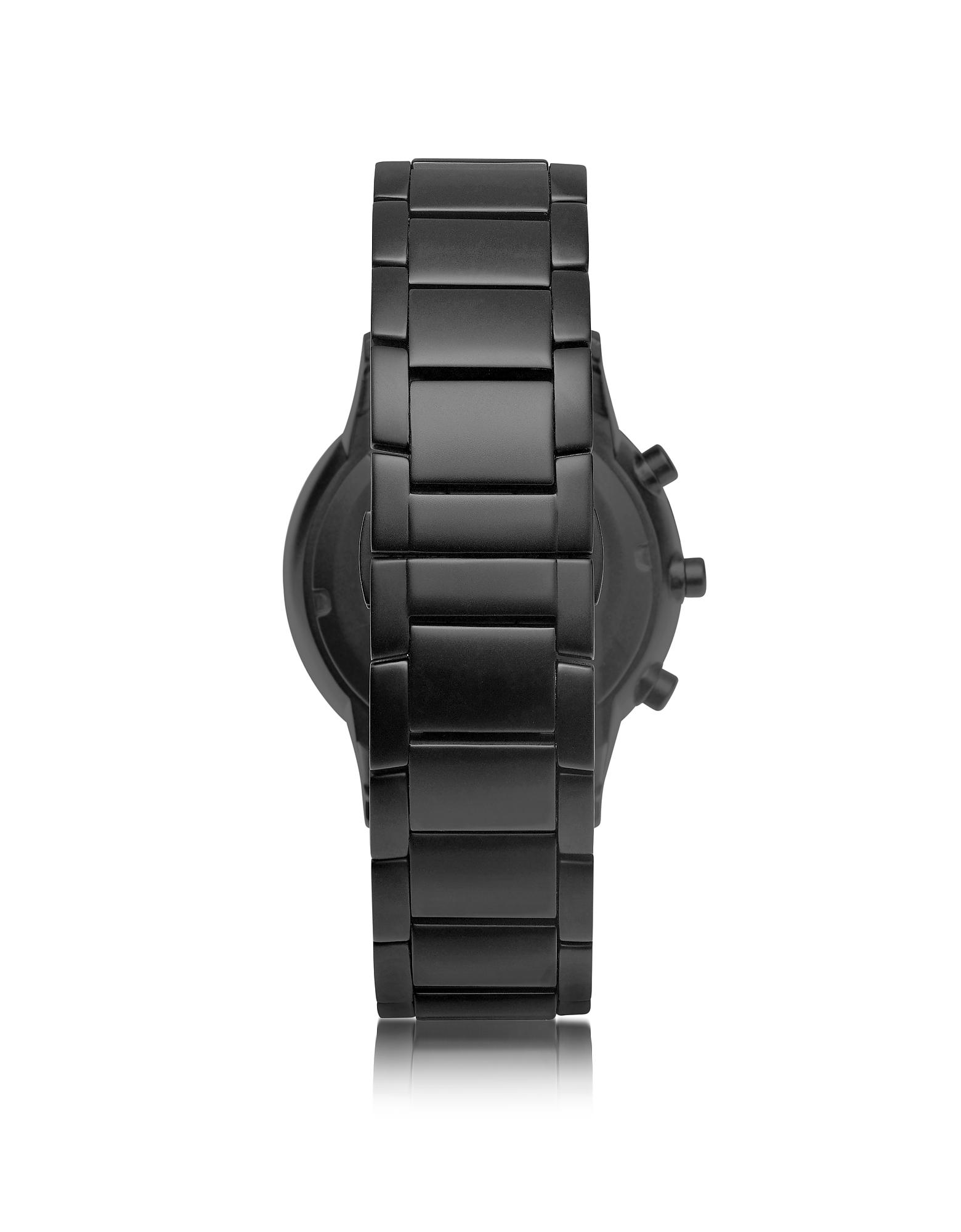 Emporio Armani | черный Черные Мужские Часы Смарт из Нержавеющей Стали с Покрытием | Clouty