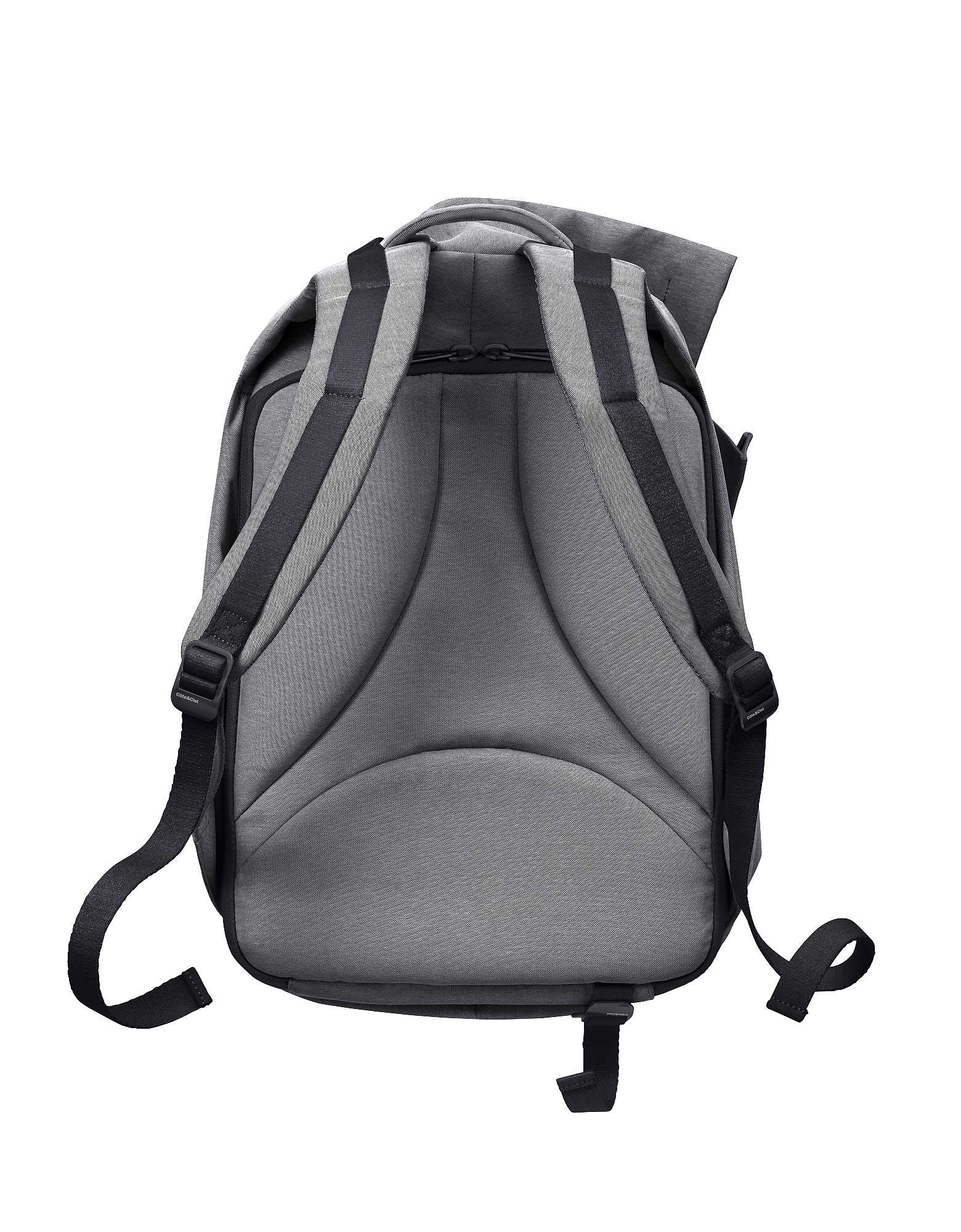 Côte & Ciel   серый Isar - Черный Меланжевый Рюкзак Среднего Размера из Ткани   Clouty