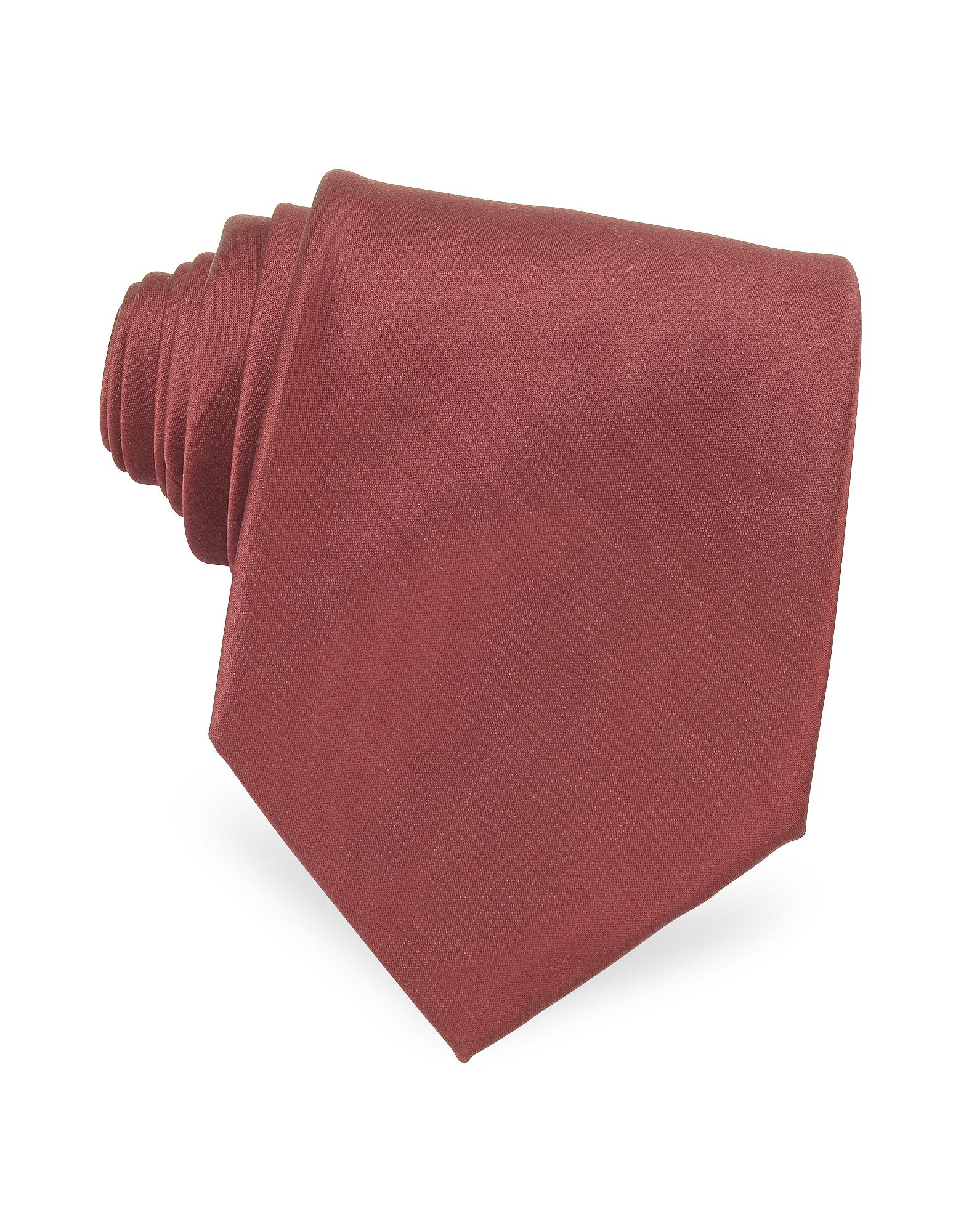 Forzieri Exclusives | бордовый Однотонный Шелковый Галстук | Clouty