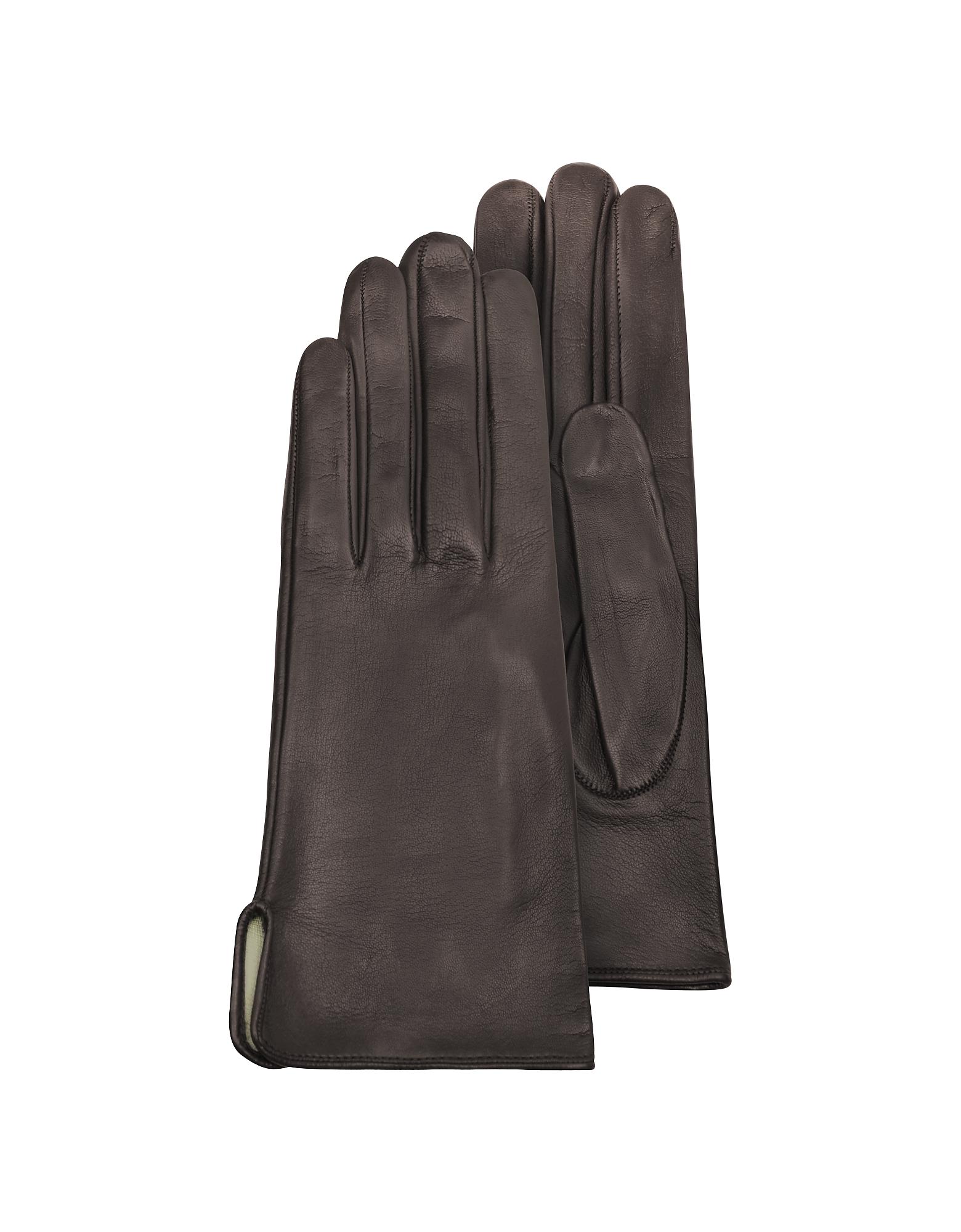 Forzieri Exclusives | коричневый Коричневые Женские Перчатки из Кожи Теленка на Шелковой Подкладке | Clouty