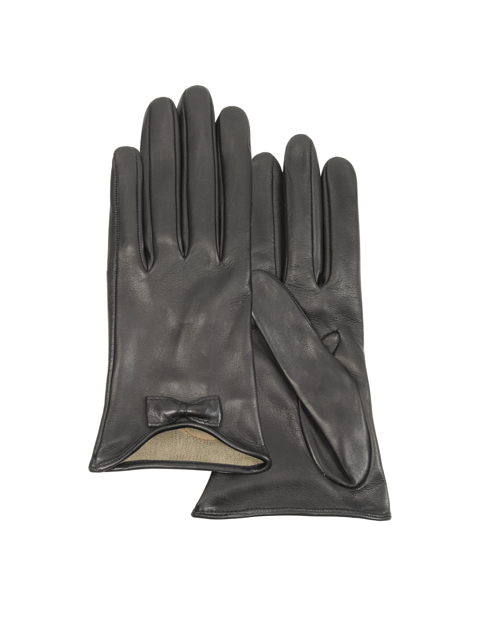 Forzieri Exclusives | черный Кожные Перчатки с Бантом | Clouty