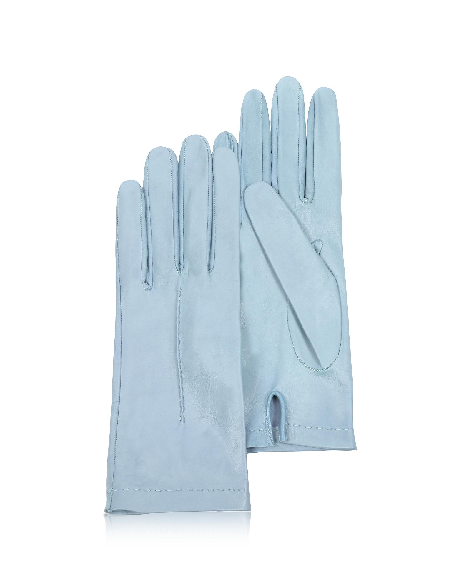 Forzieri Exclusives | ярко-голубой Итальянские Ярко-голубые Кожаные Женские Перчатки без Подкладки | Clouty