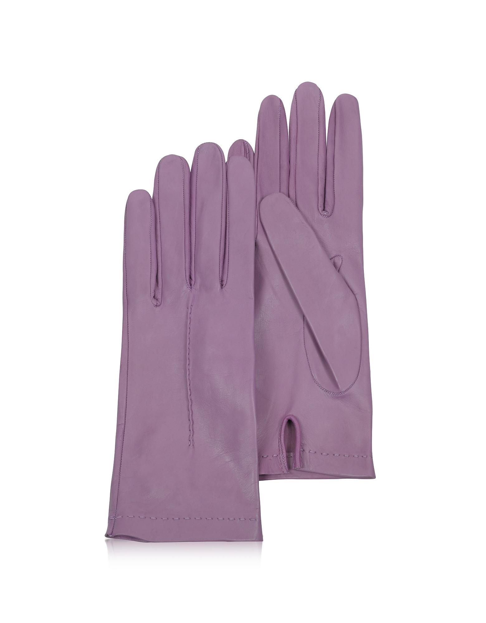 Forzieri Exclusives | фиолетовый Итальянские Фиолетовые Кожаные Женские Перчатки без Подкладки | Clouty