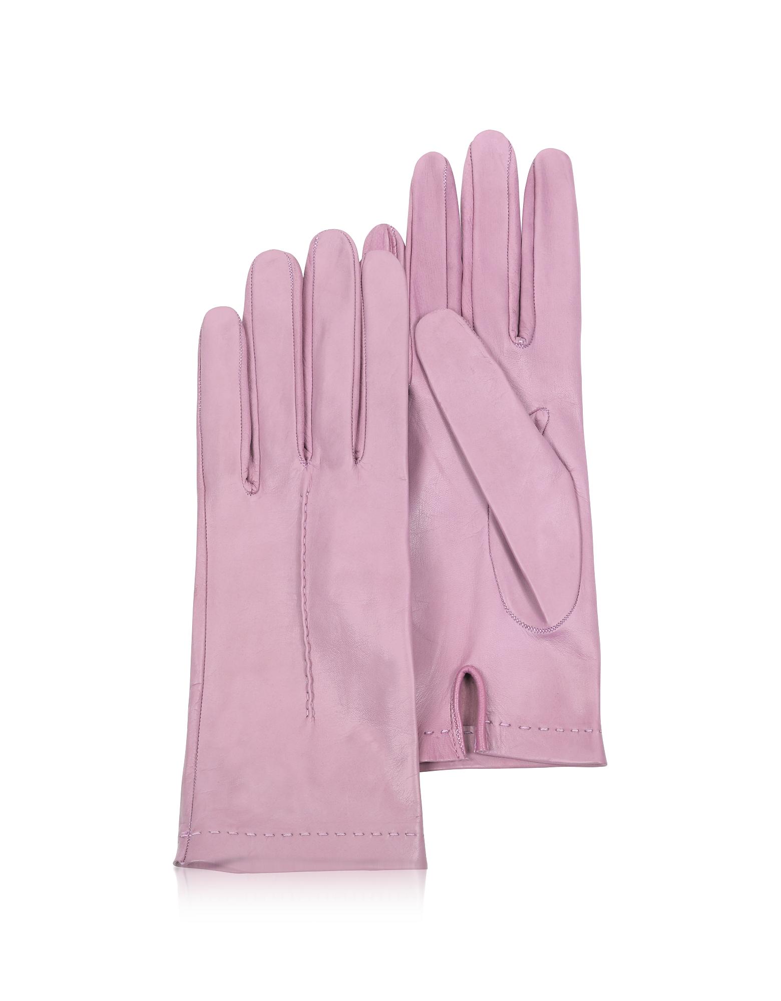 Forzieri Exclusives | розовый Итальянские Светло-розовые Кожаные Женские Перчатки без Подкладки | Clouty