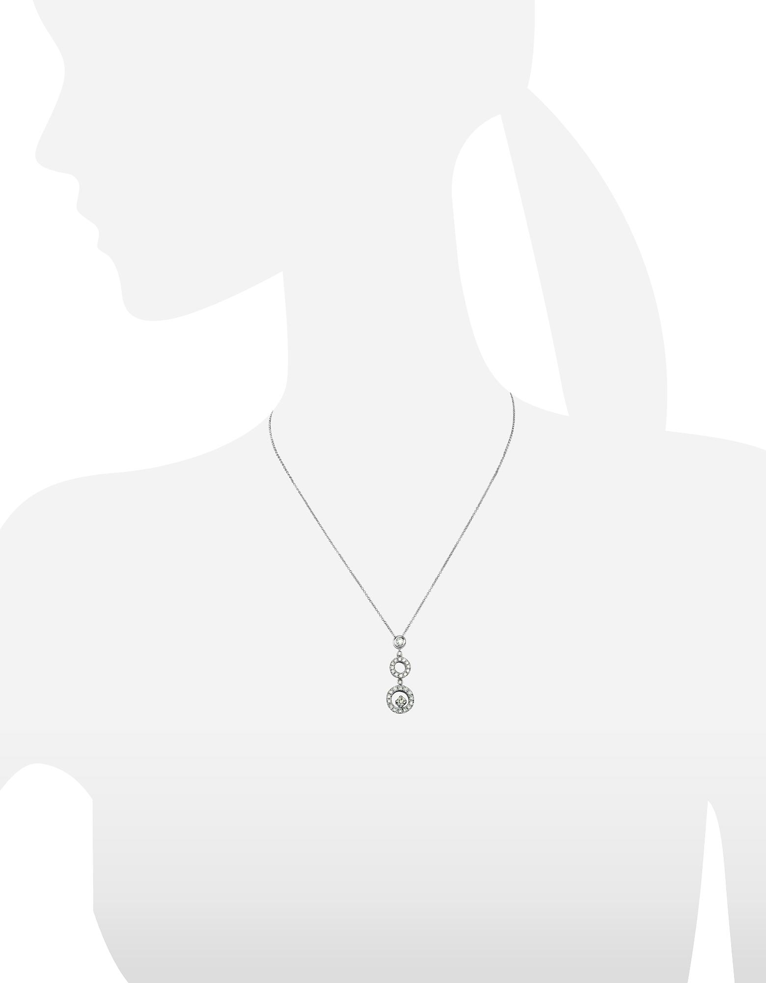Incanto Royale | белый Ожерелье из Золота 18 карат с Бриллиантами 0,55 карата | Clouty