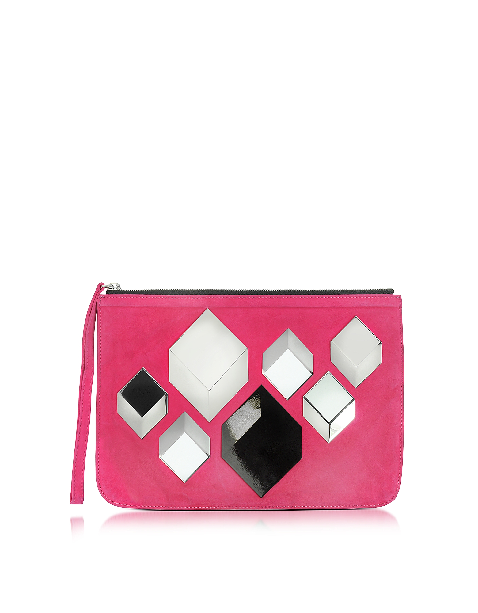 dc5fdc7d48c7 Pierre Hardy   розовый Cube - Розовая Замшевая Сумка   Clouty ...