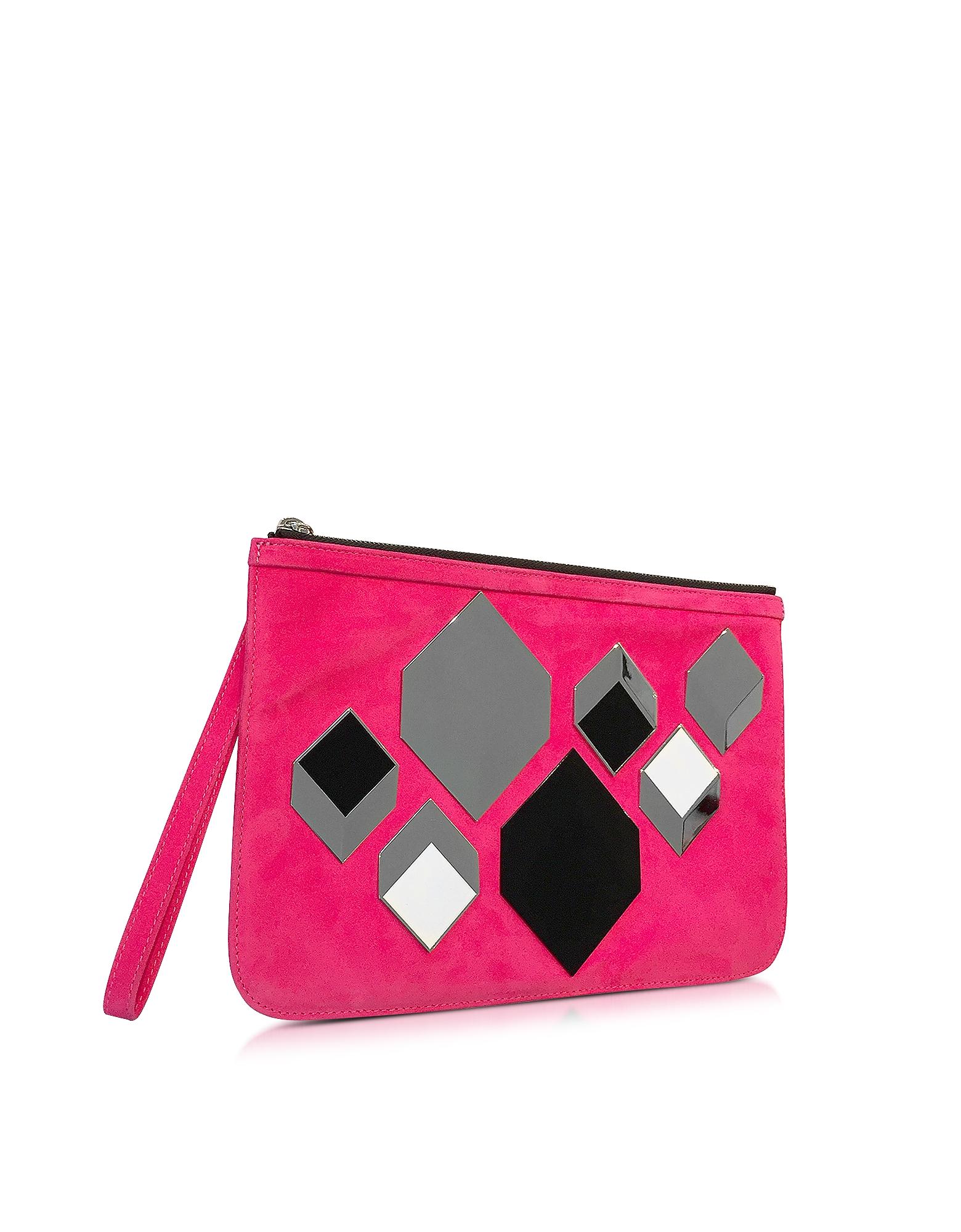 Pierre Hardy | розовый Cube - Розовая Замшевая Сумка | Clouty