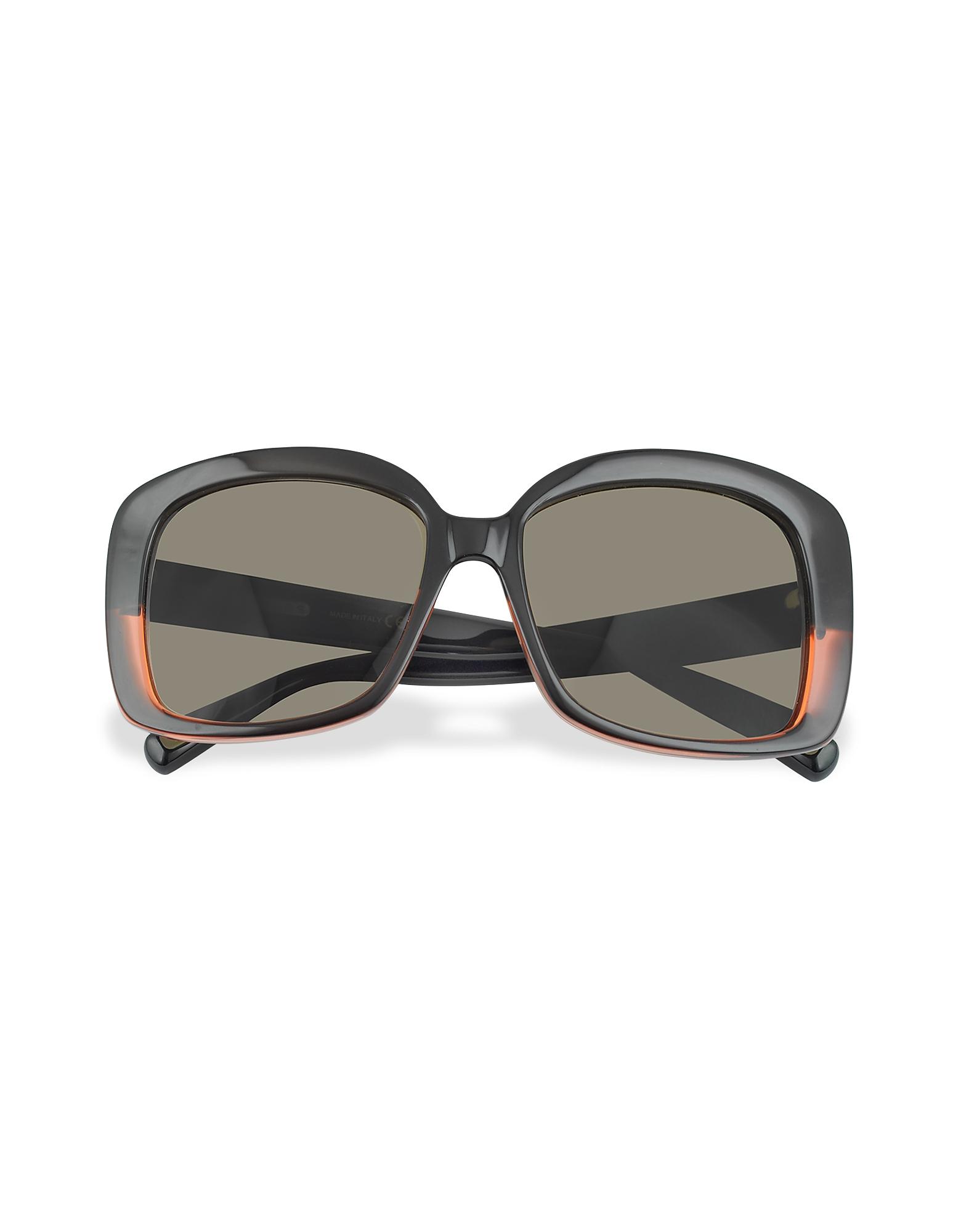 5246b0f9e622 Marc Jacobs   черный коричневый Черные Квадратные Солнцезащитные Очки с  Красными Бликами   Clouty ...