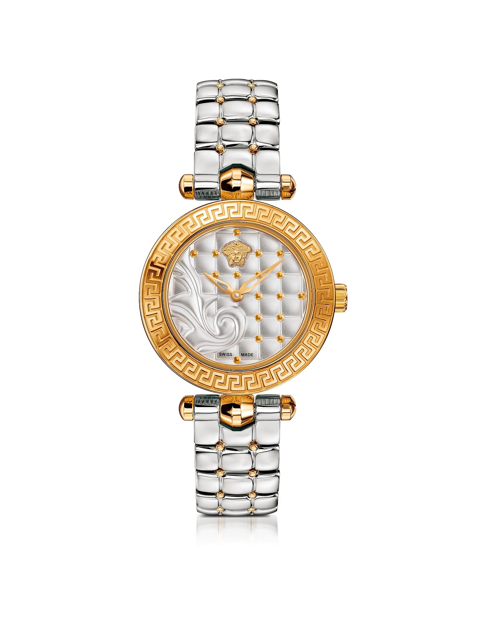 Versace | золотистый Micro Vanitas - Женские Часы из Нержавеющей Стали с Позолотой и Узором Барокко на Циферблате | Clouty