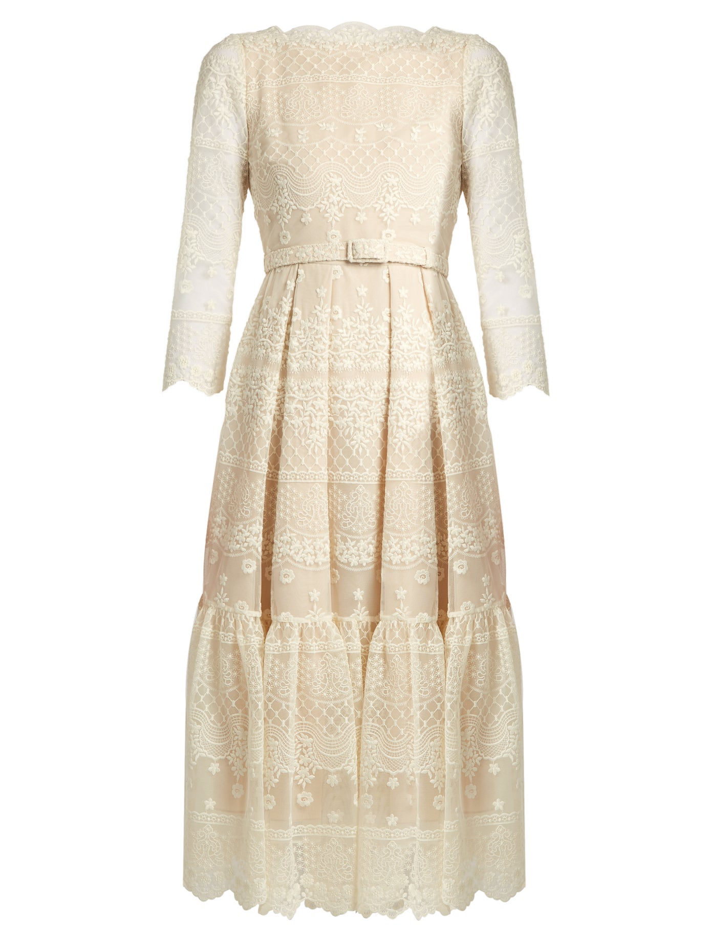 Erdem | Cherlyn floral-embroidered tulle dress | Clouty