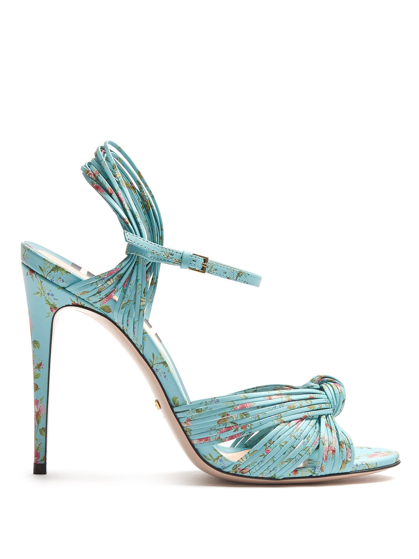GUCCI | Allie floral-print leather sandals | Clouty