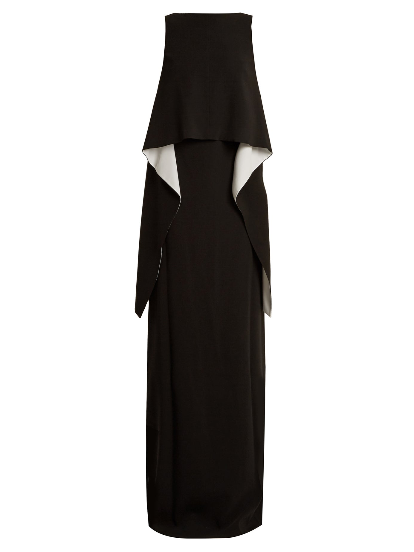 GIVENCHY | Contrast-panel boat-neck stretch-cady gown | Clouty