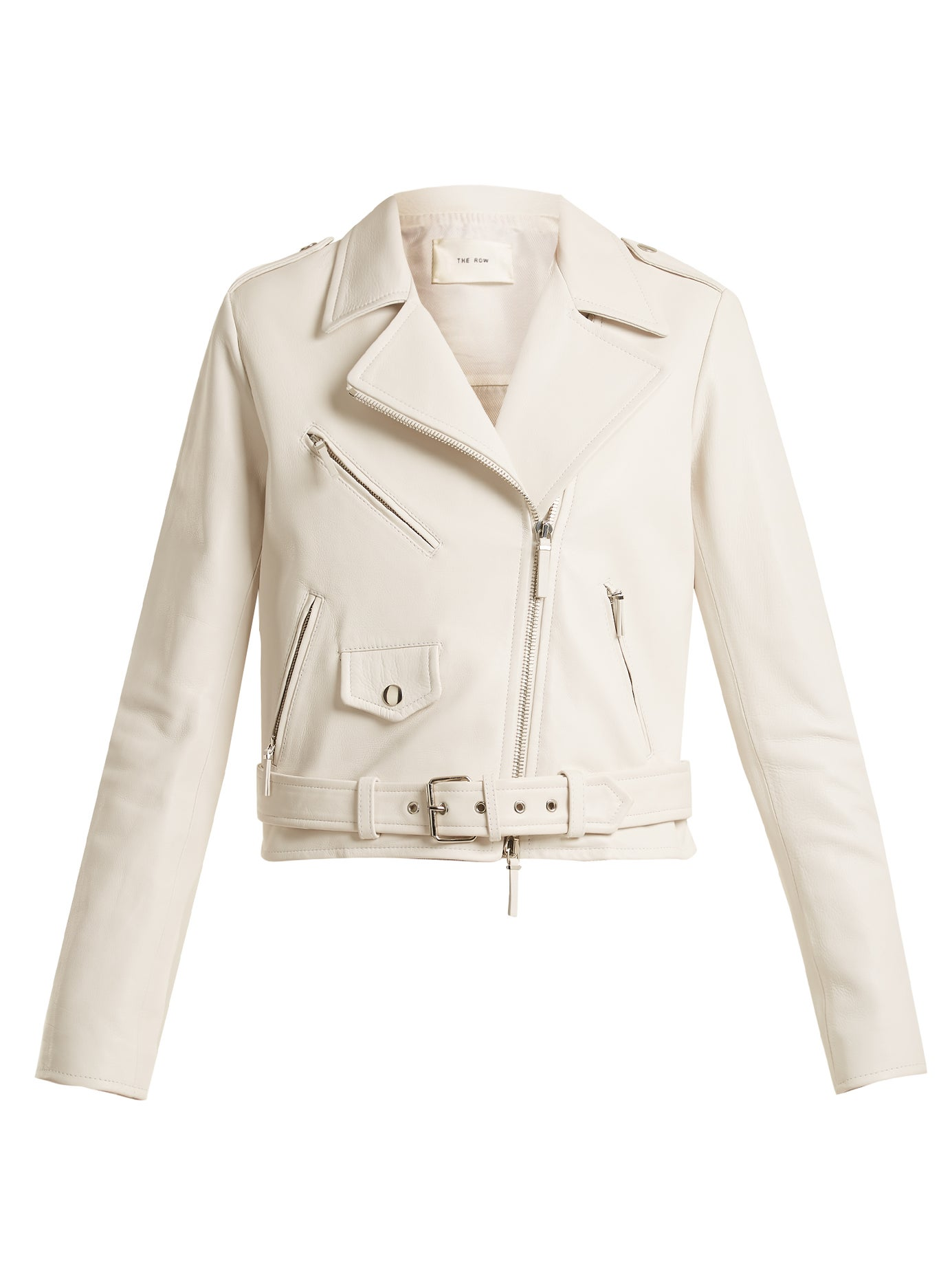 The Row | Perlin leather biker jacket | Clouty