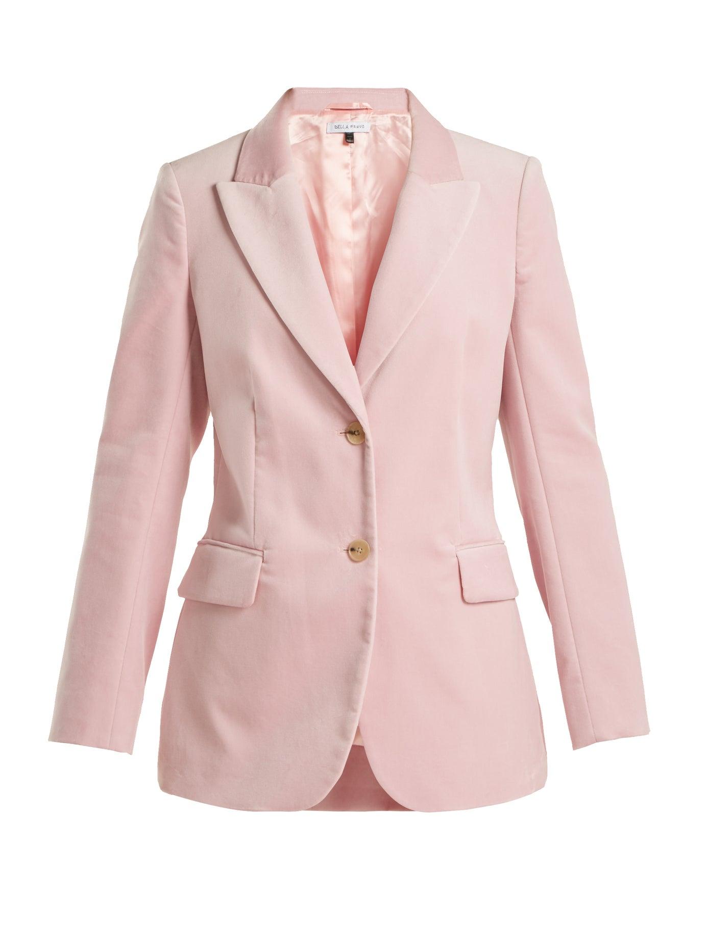 Bella Freud | Isaacs tailored velvet jacket | Clouty