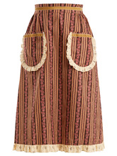 Фото Frill-trimmed floral-print cotton skirt