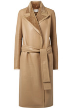 The Row - Cintry Shearling Trench Coat - Sand