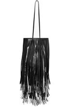 Фото CALVIN KLEIN 205W39NYC - Fringed Two-tone Leather Bucket Bag - Black