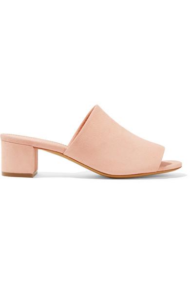 Mansur Gavriel | Mansur Gavriel - Suede Mules - Pastel pink | Clouty