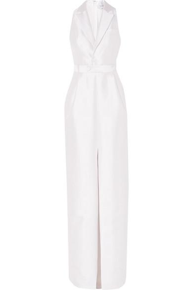 Gabriela Hearst   Gabriela Hearst - David Silk-blend Tuxedo Dress - Ivory   Clouty