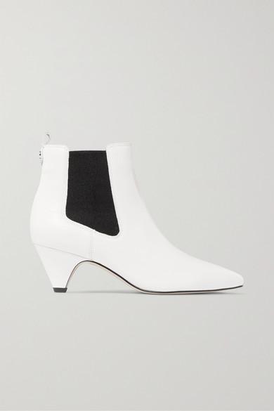 Sam Edelman | Sam Edelman - Leather Ankle Boots - White | Clouty