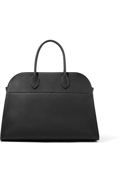 The Row | The Row - Margaux 15 Buckled Textured-leather Tote - Black | Clouty
