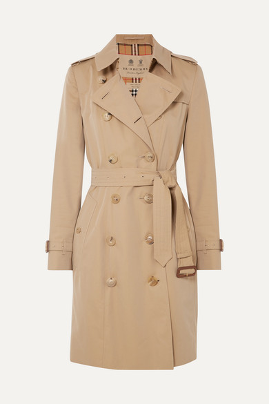 BURBERRY | Burberry - The Chelsea Cotton-gabardine Trench Coat - Beige | Clouty