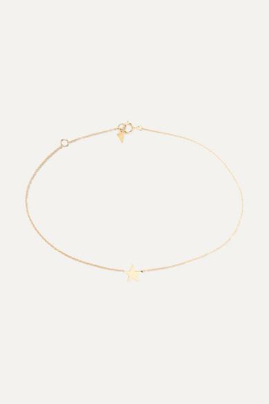 Loren Stewart | Loren Stewart - Star 14-karat Gold Anklet - one size | Clouty