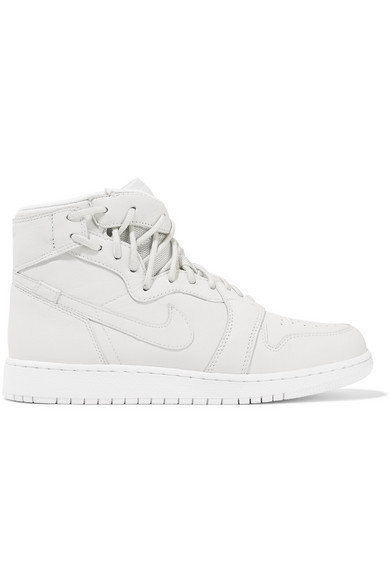 NIKE | Nike - The 1 Reimagined Air Jordan 1 Rebel Suede-trimmed Leather Sneakers - Off-white | Clouty