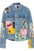 Loewe - + Paula's Ibiza Sequined Patchwork Denim Jacket - Indigo