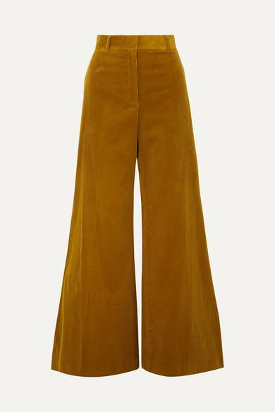 Bella Freud | Bella Freud - Bianca Cotton-corduroy Wide-leg Pants - Mustard | Clouty