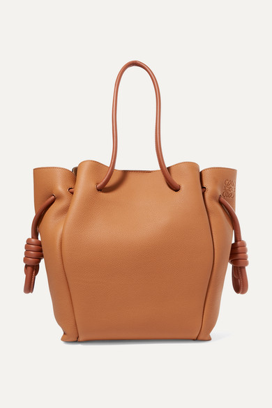 Loewe | Loewe - Flamenco Small Textured-leather Tote - Tan | Clouty