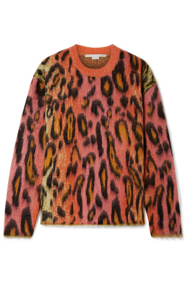 Stella McCartney | Stella McCartney - Brushed Mohair-blend Jacquard Sweater - Pink | Clouty