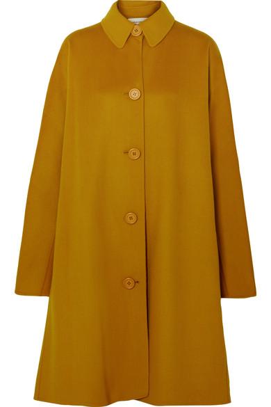 Mansur Gavriel | Mansur Gavriel - Wool And Cashmere-blend Coat - Yellow | Clouty