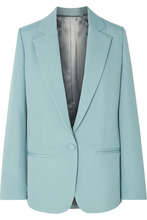 Joseph - Wolf Wool-blend Canvas Blazer - Blue
