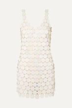 Фото Paco Rabanne - Sequined Mini Dress - Cream