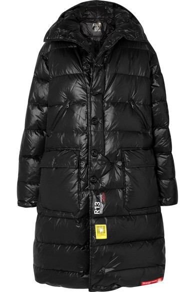 Brumal | Brumal - + R13 Hooded Quilted Shell Down Jacket - Black | Clouty