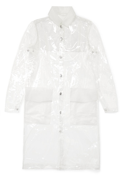 Rains   Rains - Glossed-tpu Raincoat - Clear   Clouty