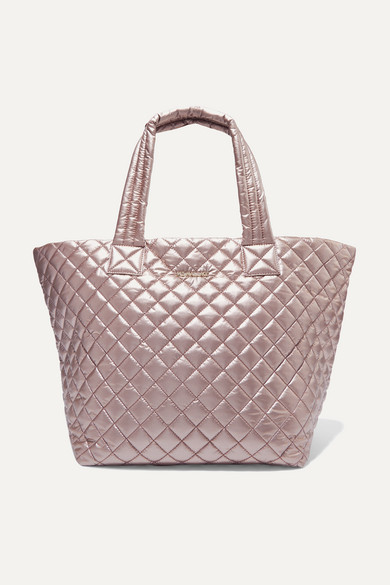 Mz Wallace | MZ Wallace - Metro Medium Metallic Quilted Shell Tote - One size | Clouty