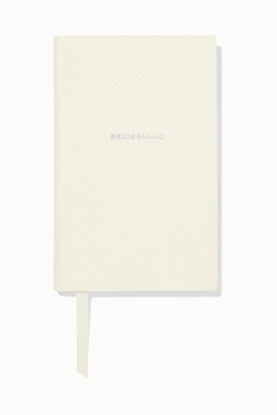 Smythson | Smythson - Panama Bridesmaid Textured-leather Notebook - White | Clouty