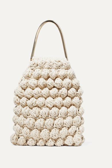 Ulla Johnson | Ulla Johnson - Barranco Crocheted Cotton And Lurex-blend Tote - Cream | Clouty