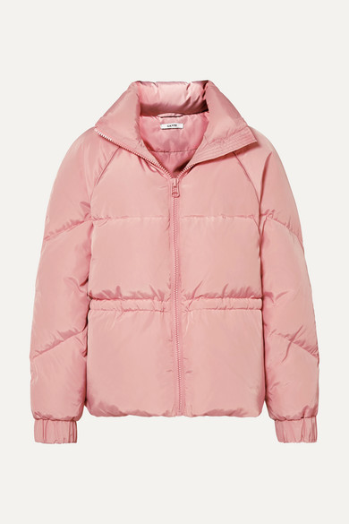 Ganni | GANNI - Quilted Shell Down Jacket - Baby pink | Clouty