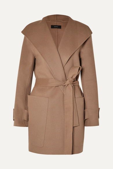 JOSEPH | Joseph - Lista Belted Wool-blend Coat - Camel | Clouty