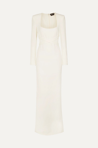 Tom Ford | TOM FORD - Belted Cady Gown - White | Clouty