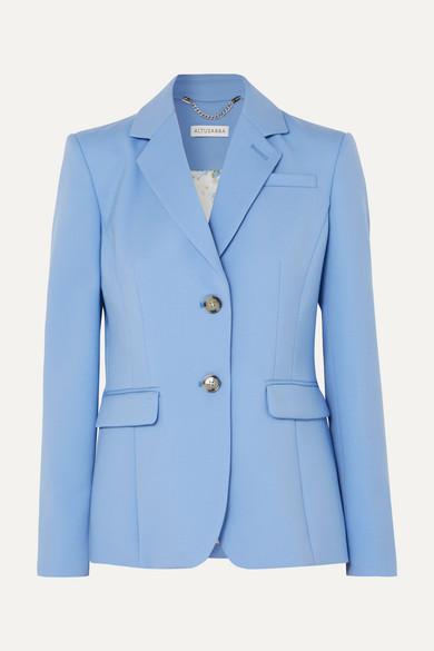 Altuzarra | Altuzarra - Fenice Wool-blend Pique Blazer - Blue | Clouty