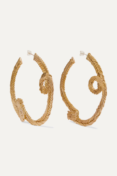 STVDIO | STVDIO - Simone Small Gold-tone Hoop Earrings - one size | Clouty