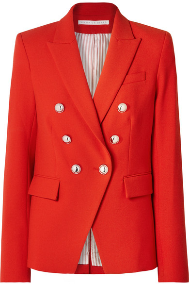 Veronica Beard | Veronica Beard - Miller Dickey Cady Jacket - Red | Clouty