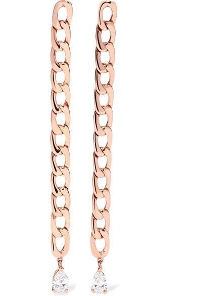 Anita Ko | Anita Ko - 18-karat Rose Gold Diamond Earrings - one size | Clouty
