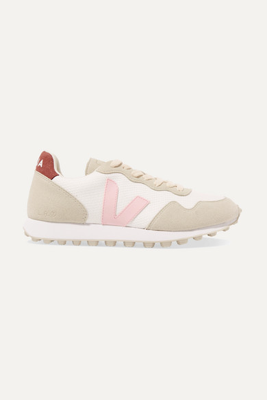 Veja | Veja - Sdu Hexa Rubber-trimmed Mesh And Vegan Suede Sneakers - White | Clouty